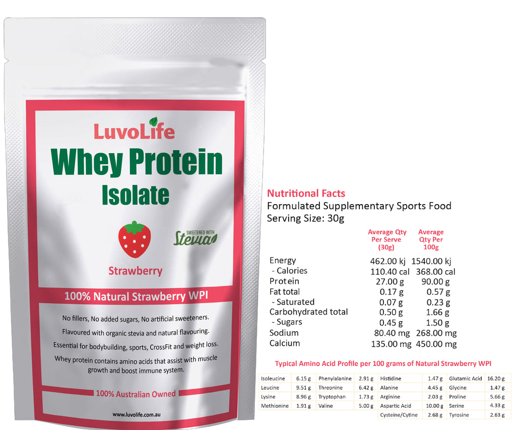 Whey Protein Isolate - 5kg - LuvoLife