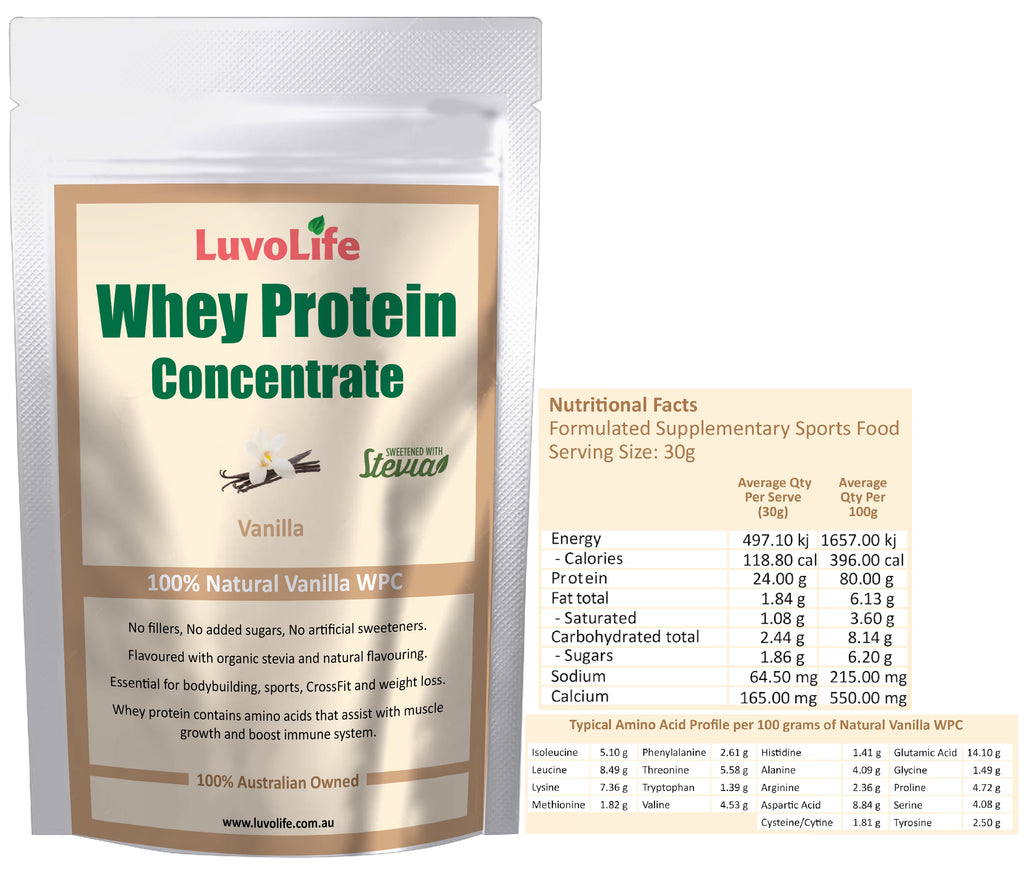 Whey Protein Concentrate - 1kg - LuvoLife