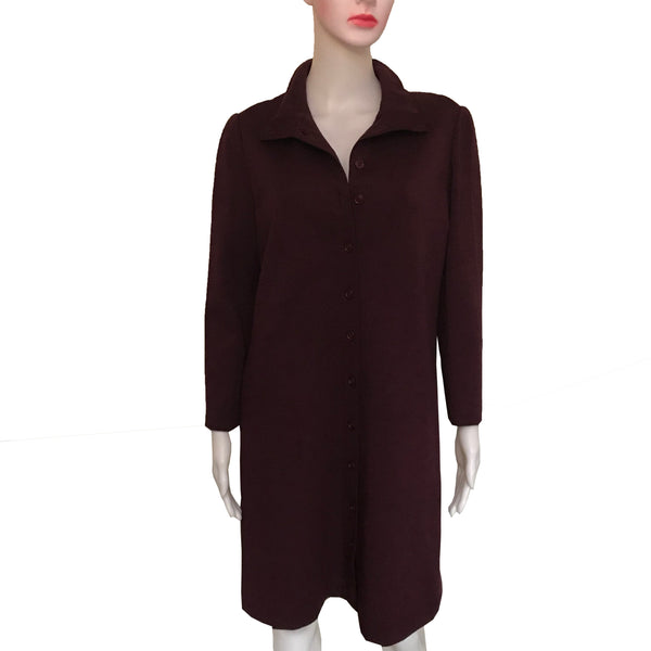 Vintage 1970s Adele Simpson Wool Coat Dress
