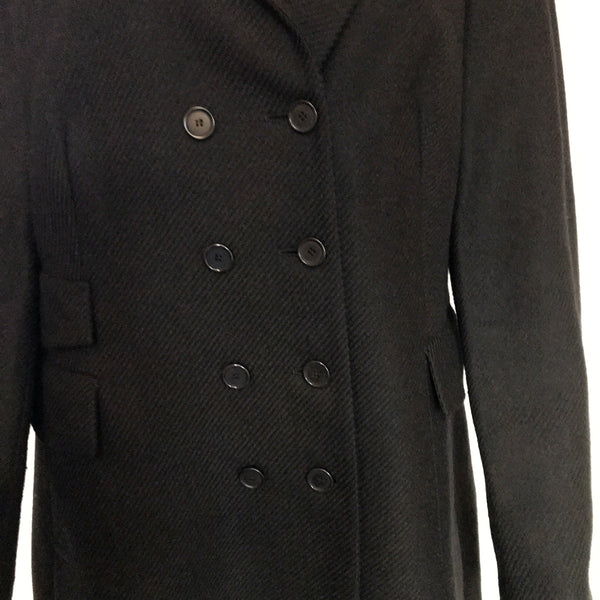 Vintage 1990s Akris Punto Double-Breasted Wool Coat