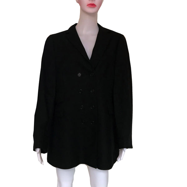 Vintage 1980s Akris Punto Double-Breasted Wool Coat