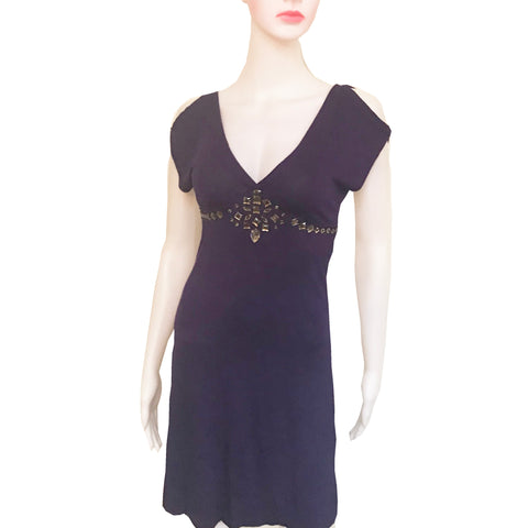 Armani Exchange Cold-Shoulder Dress