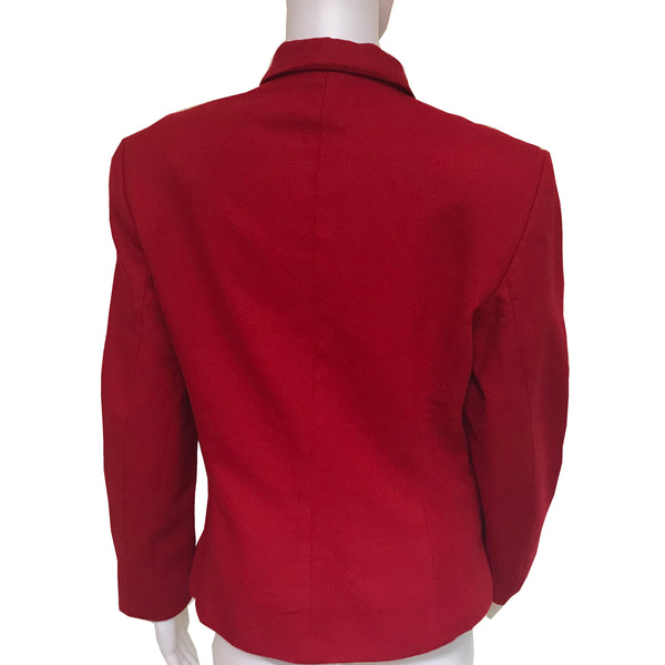 Vintage 1980s Benetton Red Wool Jacket