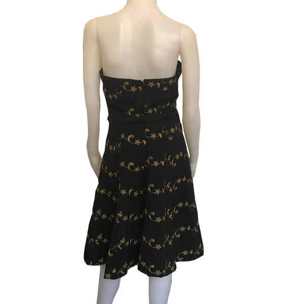 Vintage 1990s Betsey Johnson Strapless Cocktail Dress