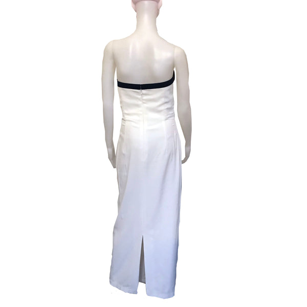 Vintage 1980s Bill Blass Formal Strapless Gown