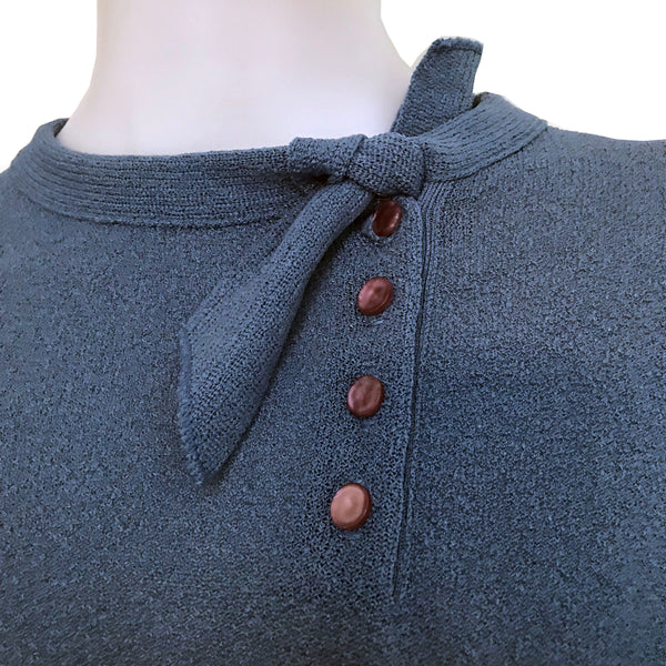 Vintage 1950s Cornflower Blue Talbott Sweater