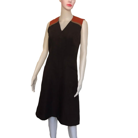 Vintage 1960s Sleeveless Colorblock Shift Dress