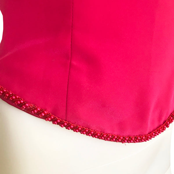 Vintage 1990s Barbie Pink Satin Bustier Top