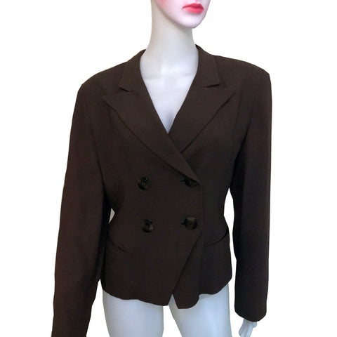 Vintage 1980s Christian Dior Double-Breasted Blazer