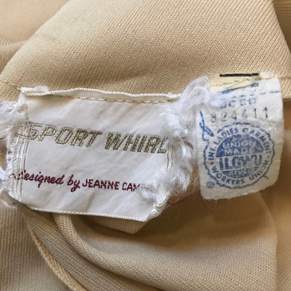 Vintage 1960s Jeanne Campbell Sport Whirl Dress