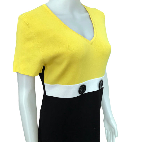 Vintage 1980s Colorblock Knit Top