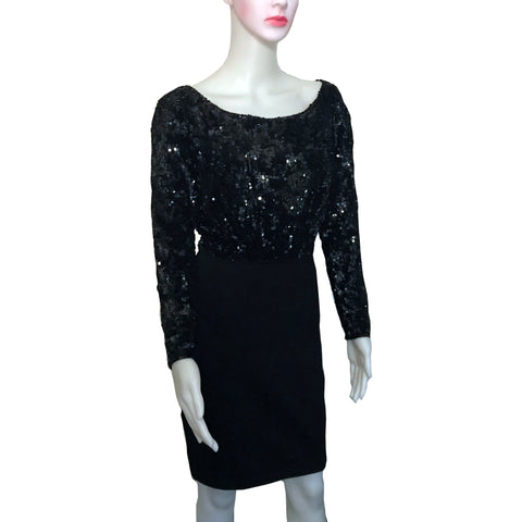 Vintage 1980s Donna Karan Sequined Cocktail Dress