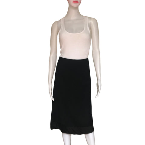 Dries Van Noten Black Straight Pencil Skirt
