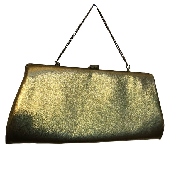 Vintage 1950s Gold Evening Clutch Bag