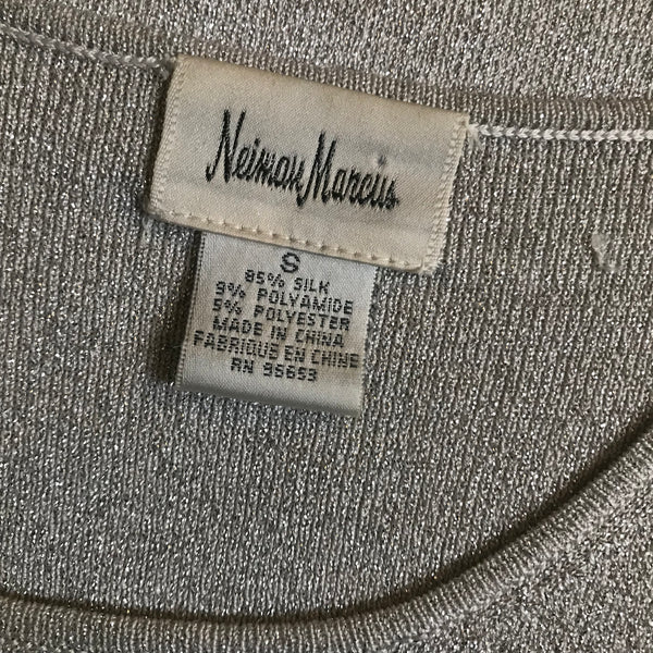 Vintage 1990s Neiman Marcus Metallic Sweater Set