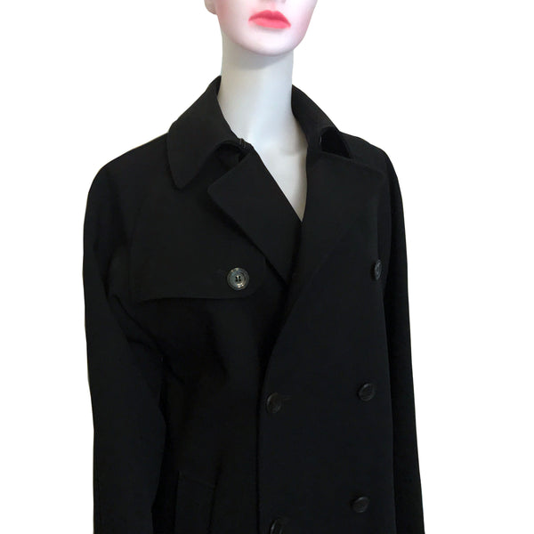 Vintage 1990s Jean Paul Gaultier Black Trench Coat