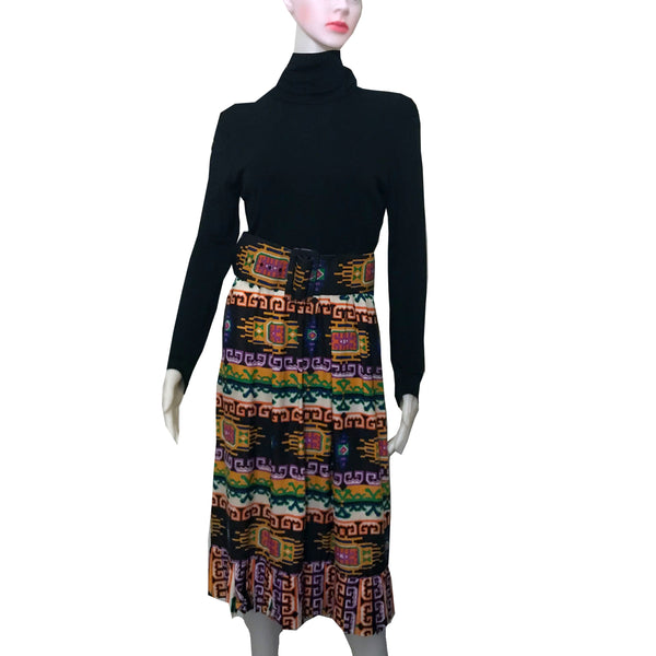 Vintage 1960s Lillie Rubin Abstract Print Dress