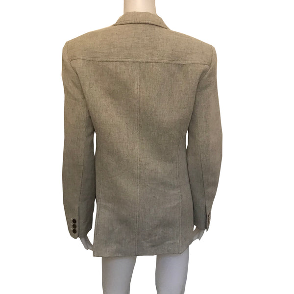 Vintage 1980s Gray Tweed Oscar de la Renta Jacket