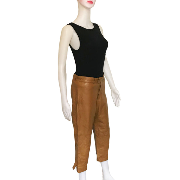 Vintage 1990s Donald J. Pliner Cropped Leather Pants