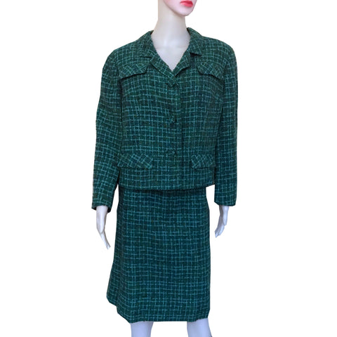 Vintage 1960s Davidow Boucle Tweed Suit