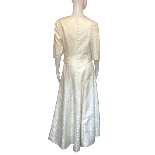 Vintage 1950s Cream-Colored Wedding Gown
