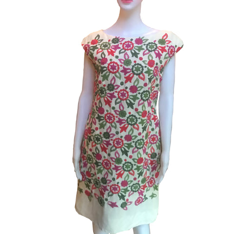 Rare Vintage 1960s Ben Reig Floral Shift Dress