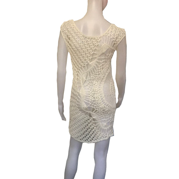 Vintage 1960s Hand-Crocheted Tank Dress