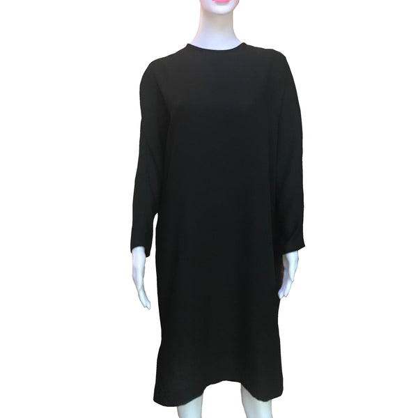 Vintage 1960s Mr. Blackwell Black Crepe Dress