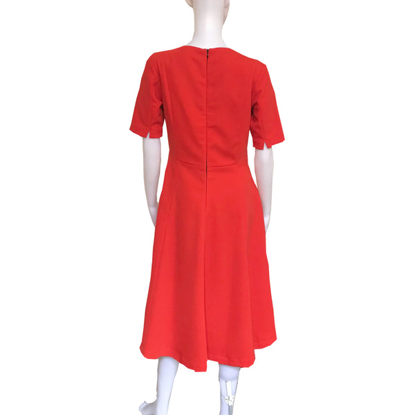 Vintage 1960s Orange A-Line Mod Dress