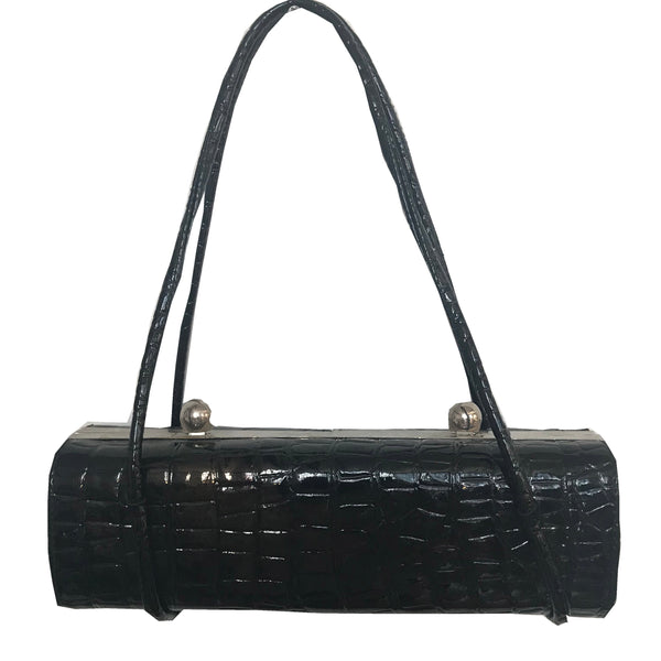 Vintage 1950s Crocodile Duo Compartment Bag