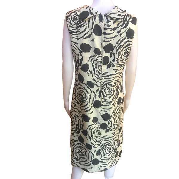 Vintage 1960s 100% Silk Floral Shift Dress
