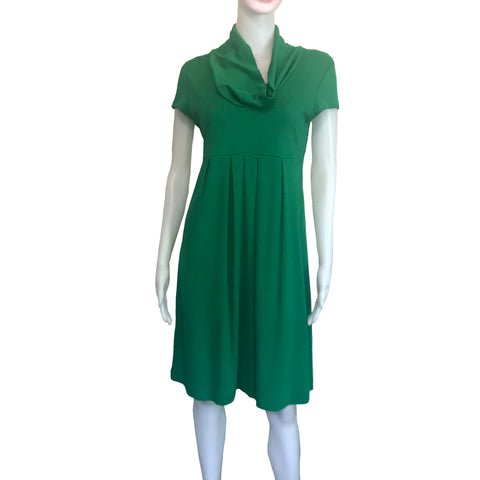 Vintage 1960s Green Cap Sleeve Dress