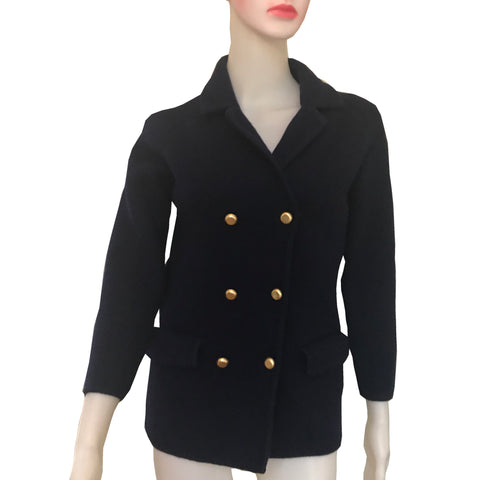 Vintage 1970s Military Style Wool Jacket