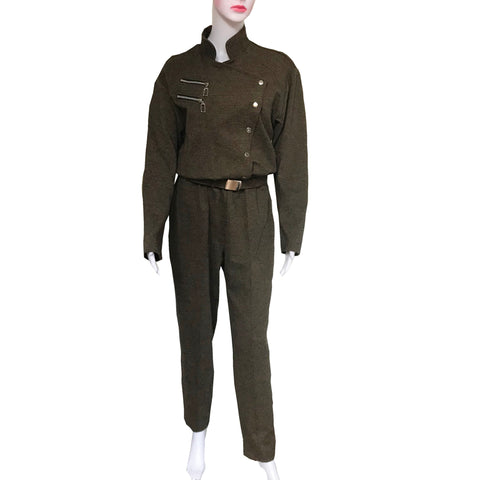 Vintage 1980s Rare Military Style Jumpsuit