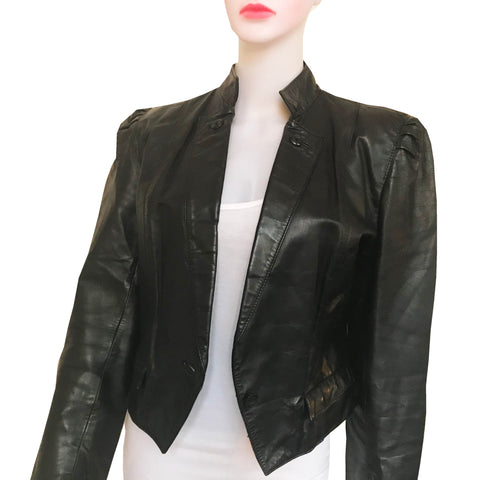 Vintage 1980s Wilsons Leather Cropped Jacket
