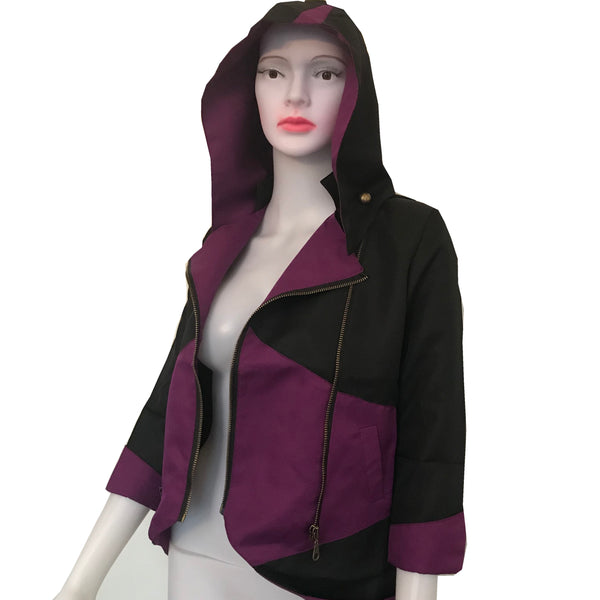 Vintage 1980s Zipper Jacket With Removable Hood