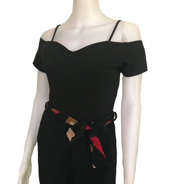 Vintage 1990s Off-the-Shoulder Mod Jumpsuit