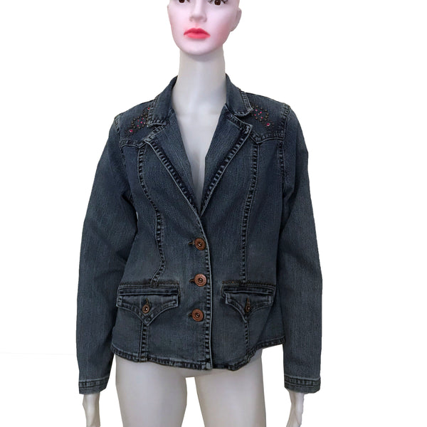 Vintage 1990s Z. Cavaricci Studded Denim Jacket