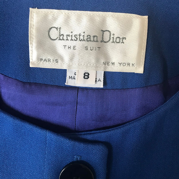 Vintage 1980s Christian Dior Wool Suit