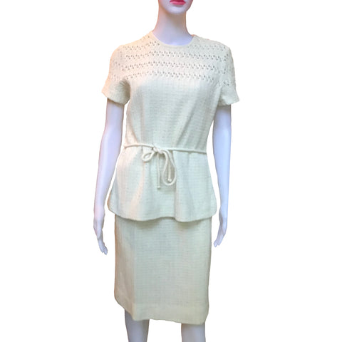 Vintage 1960s Dalton Knits Skirt and Sweater Set
