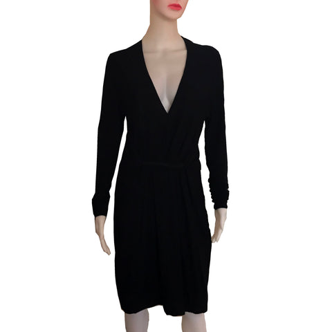 Vintage 1990s Donna Karan Black Jersey Dress