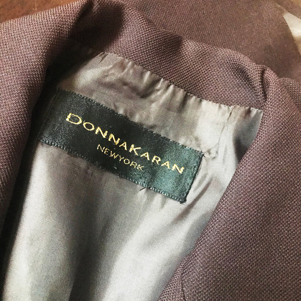 Vintage 1990s Donna Karan Brown Jacket