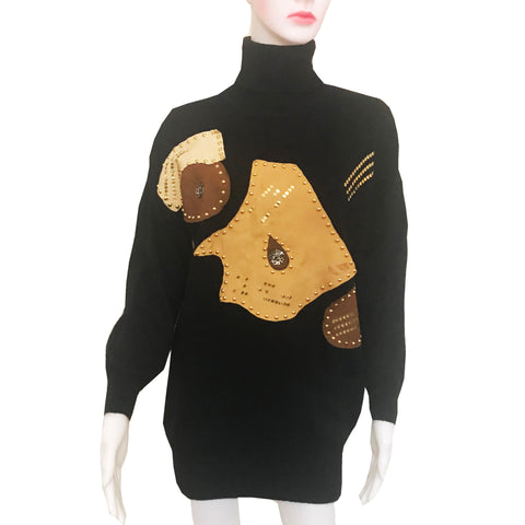 Vintage 1980s Forenza Oversized Turtleneck Sweater