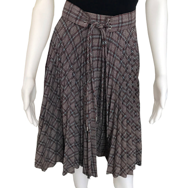 Vintage 1960s Peck & Peck Pleated Plaid Skirt