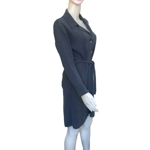 Vintage 1970s Pierre Cardin Blue Sweater Dress