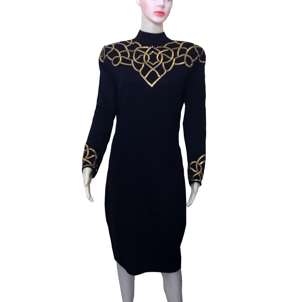 Vintage 1980s St. John by Marie Gray Knit Dress