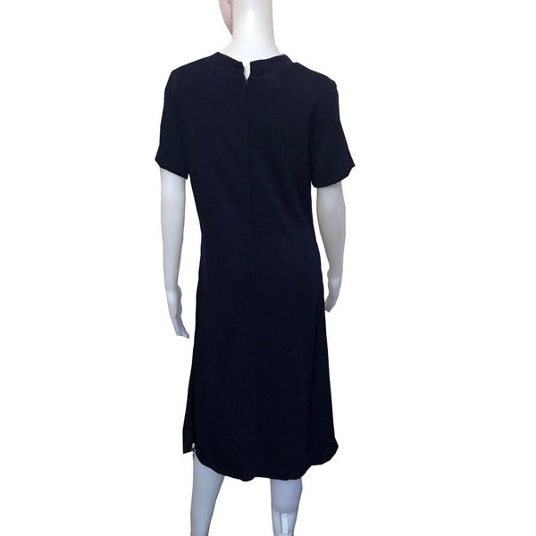 Vintage 1960s Berkshire B-Tween Mod Navy Dress
