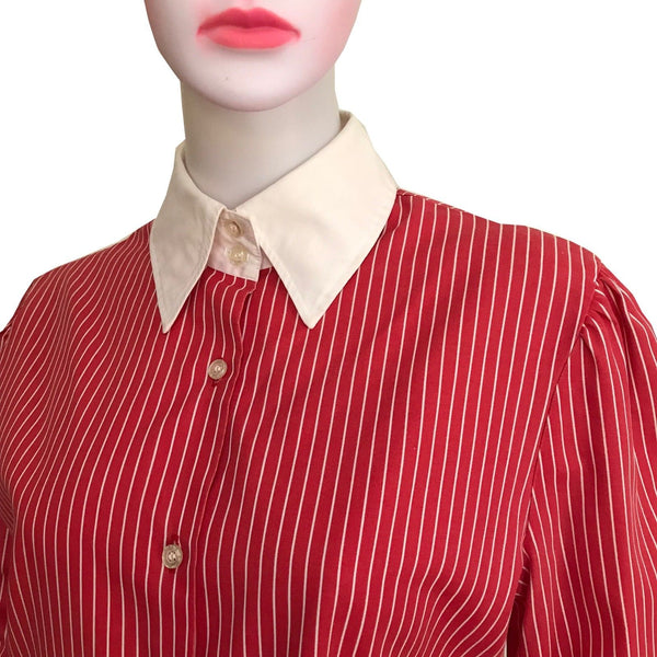 1980s STRIPED BLOUSE