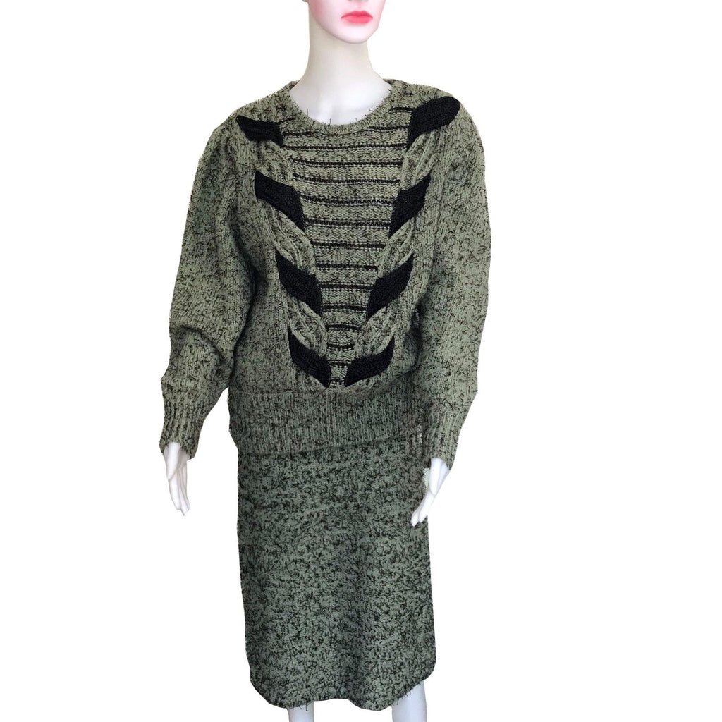 Vintage 1980s Oversized Sweater & Skirt Set