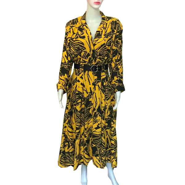 Vintage 1980s Dresseteria Button-Down Printed Dress